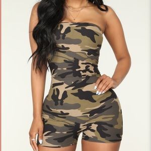Buenos Aries camouflage romper from fashion nova